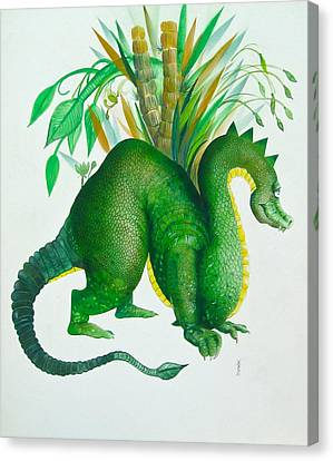 Green Dragon Canvas Print by Richard Yoakam