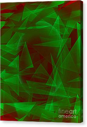 Green Eyed Monster Abstract Canvas Print by Michelle Bergersen