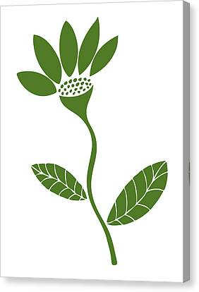 Green Flower Canvas Print by Frank Tschakert