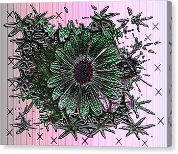 Canvas Print - Green Flower by Tinatin Dalakishvili
