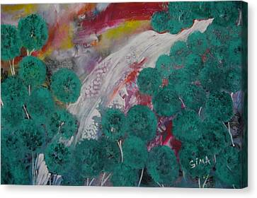 Green Forest Canvas Print by Sima Amid Wewetzer