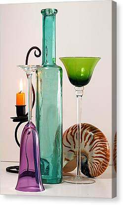 Canvas Print featuring the photograph Green Glass by Elf Evans