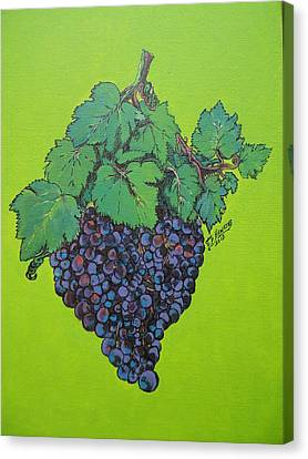 Green Grapes Canvas Print by Timothy Hawkins