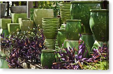 Green Grouping Canvas Print by Teresa Mucha