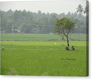 Green Canvas Print by Hari Ram