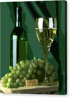 Green Is White Canvas Print by Elaine Plesser