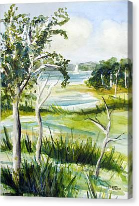 Green Land Canvas Print by Clara Sue Beym