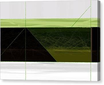 Green Mountain Canvas Print by Naxart Studio