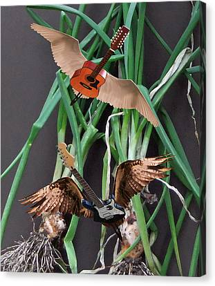 Green Onions Canvas Print by Eric Kempson