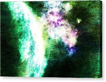 Macrocosmos Canvas Print - Green Planet by Andrea Barbieri
