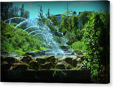 Green Scenery Canvas Print by Kevin Flynn