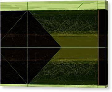 Green Square Canvas Print by Naxart Studio