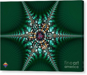 Green Starone Canvas Print by Vidka Art