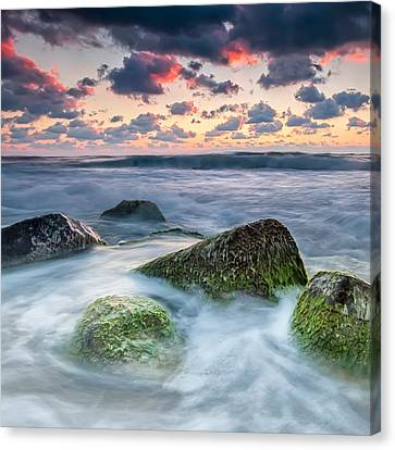 Green Stones Canvas Print by Evgeni Dinev