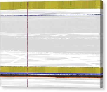 Green Strip Canvas Print by Naxart Studio