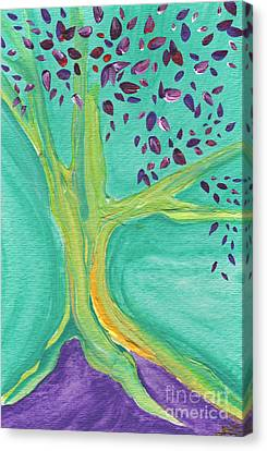 Green Tree Canvas Print by First Star Art