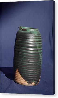 Green Vase Canvas Print by Rick Ahlvers