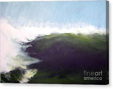 Green Wall Canvas Print by Ronald Tseng