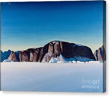 Greenland Coast Canvas Print by Kent Rockwell
