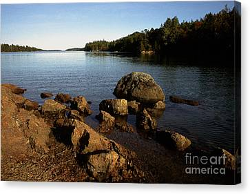 Greenlaw Cove Deer Isle Maine Canvas Print by Thomas R Fletcher