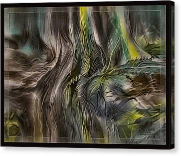 Canvas Print featuring the pastel Greenleaves Turn To Brown4  2009 by Glenn Bautista