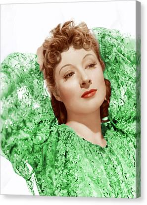 Greer Garson In Photo By Clarence Canvas Print by Everett