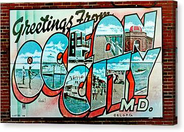 Local Food Canvas Print - Greetings From Oc by Skip Willits