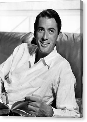 Gregory Peck In The Late 1940s Canvas Print by Everett