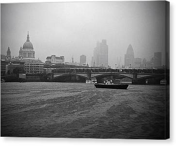 Canvas Print featuring the photograph Grey London by Lenny Carter