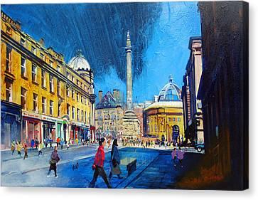 Grey Street Newcastle Canvas Print by Neil McBride