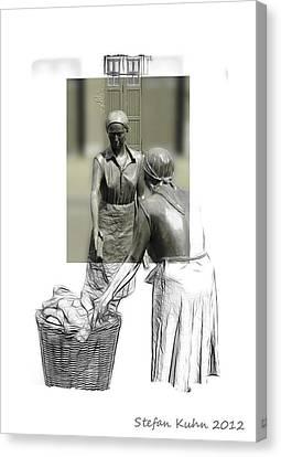 Workings Canvas Print - Grey Times by Steve K