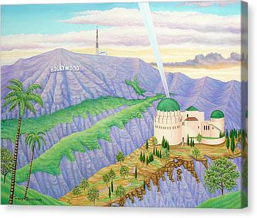 Griffith Observatory Canvas Print by Tracy Dennison