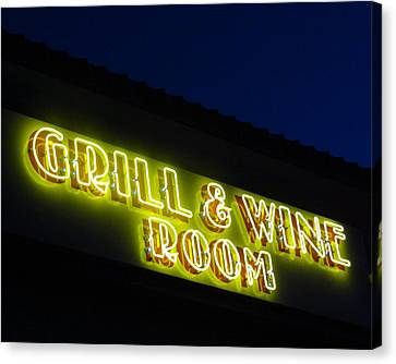 Grill And Wine Canvas Print by Christopher Kerby