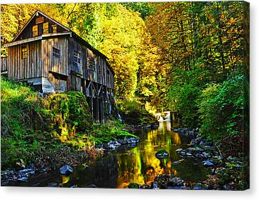 Canvas Print featuring the photograph Grist Mill by Jim Boardman