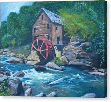 Grist Mill Canvas Print by Tersia Brooks
