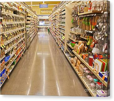 Grocery Store Aisle Canvas Print