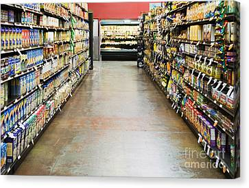 Grocery Store Isle Canvas Print