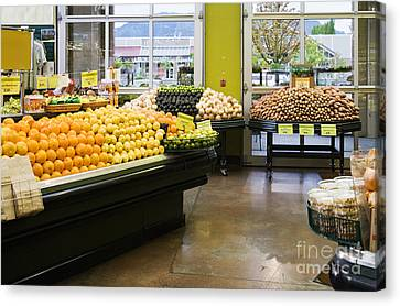 Grocery Store Produce Section Canvas Print