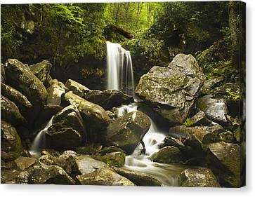 Grotto Falls - Smoky Mountains Canvas Print by Andrew Soundarajan