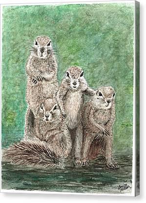 Groundhog Family Canvas Print