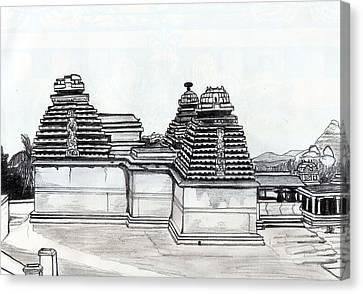 Group Of Jain Temples Hampi Canvas Print by Shashi Kumar