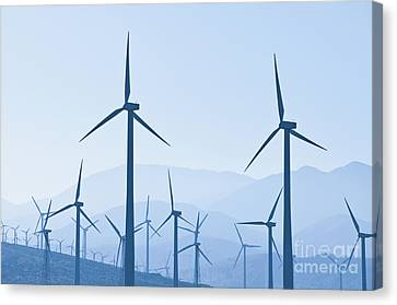Group Of Wind Turbines Canvas Print by Dave & Les Jacobs