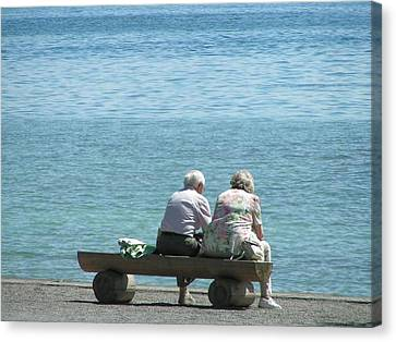 Growing Old Together Canvas Print