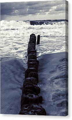 Groyne Canvas Print by Joana Kruse
