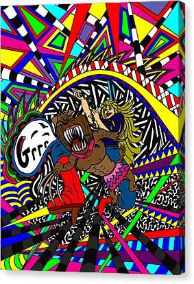 Grrr Canvas Print by Karen Elzinga