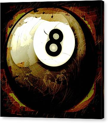 Grunge Style 8 Ball Canvas Print by David G Paul