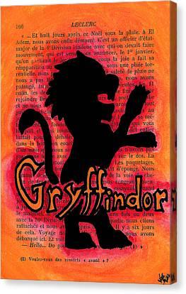 Gryffindor Lion Canvas Print