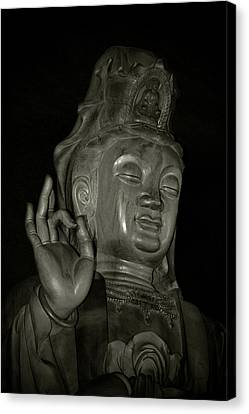 Karma Canvas Print - Guan Yin Bodhisattva - Goddess Of Compassion by Christine Till