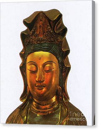 Guanyin, Chinese Goddess Of Mercy Canvas Print by Photo Researchers