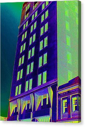 Canvas Print featuring the photograph Guaranty Bank Building by Louis Nugent